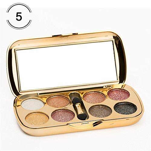 8 Colors Diamond Bright Makeup Eyeshadow Naked Smoky Palette Make Up Set 5