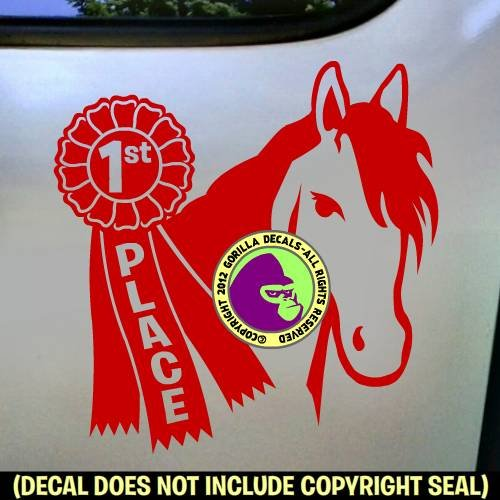 1st Place Ribbon Horse Show Vinyl Decal Sticker B