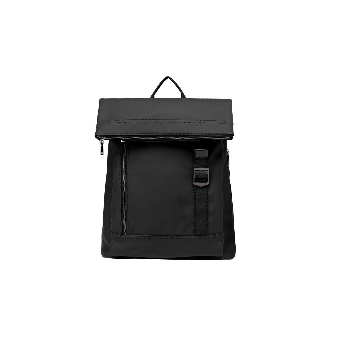 TONGBOSHI Backpack Men's Fashion Trend, Small Nylon Leisure Travel Bag, Large Capacity Student Bag Female Backpack (Black) (Color : Black)