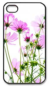 Pink Cosmos Custom iPhone 4 and iPhone 4s Case Cover - PC Material- Black