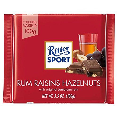 Ritter Sport ron, pasas y avellanas 100 g de chocolate de leche: Amazon.es: Alimentación y bebidas