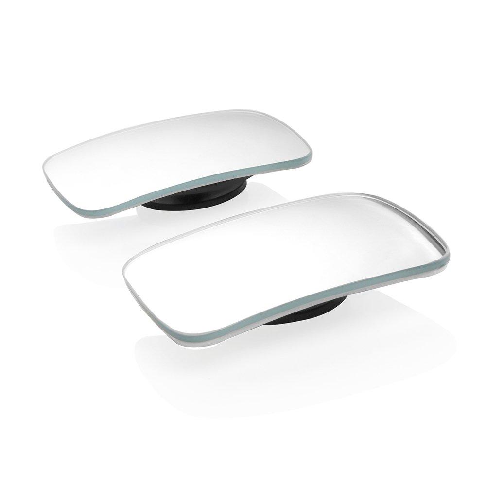 Tioodre punto cieco specchio, quadrato 360Â ¡ã £ rotazione regolabile grandangolare retrovisore HD vetro convesso laterale retrovisore per tutti i veicoli auto universale (confezione da 2)