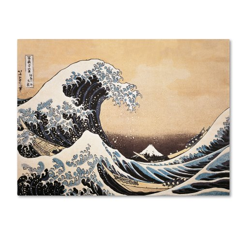 The Great Wave Off Kanagawa Artwork by Katsushika Hokusai, 24 by 32-Inch Canvas Wall Art