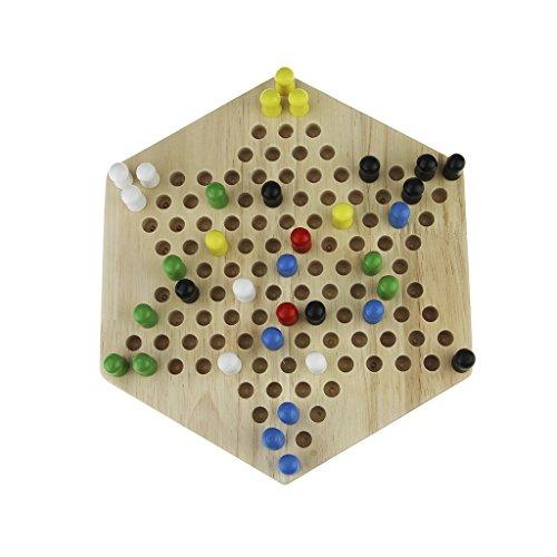 おもちゃ 子供 ゲーム チェッカー ダイヤモンドゲーム 木製基盤 ボードゲーム 知育玩具 脳力 トレーニング 大人でも楽しめるゲームの商品画像