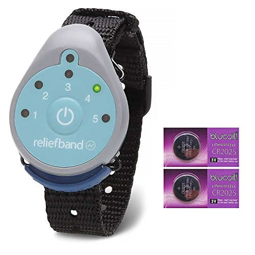 Reliefband for Motion and Morning Sickness BUNDLE - INCLUDES - 2 Blucoil CR2025 Batteries