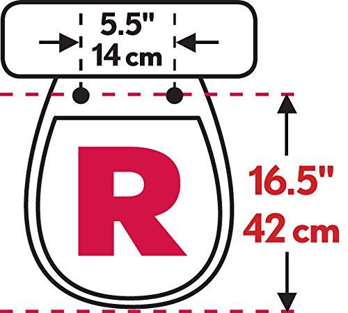 Bemis Medic-Aid 3'' Lift Raised Open Front Plastic Toilet Seat, Round, White, 3L2055T 000 by Bemis (Image #2)