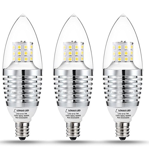 Lohas Led Candelabra Bulb 7w Daylight White 5000k Led