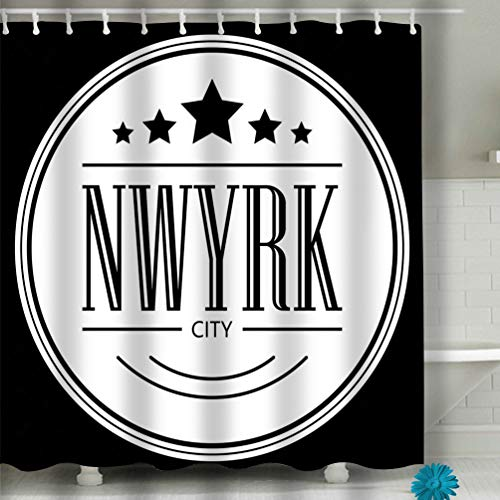 (Melvin L Beach Shower Curtain New York City Slogan Printing Graphic Printed Sale Template Flyer Banner Poster Other Fabric Bathroom Decor 60 X 72 Inch)