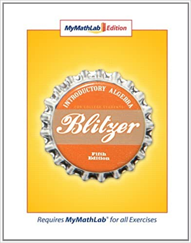 Mymathlab edition 5th edition robert f blitzer 9780136031864 mymathlab edition 5th edition 5th edition by robert f blitzer fandeluxe Choice Image