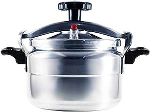 Aluminum Explosion-Proof Pressure Cooker- 7L~15L Capacity- Silver (11L)