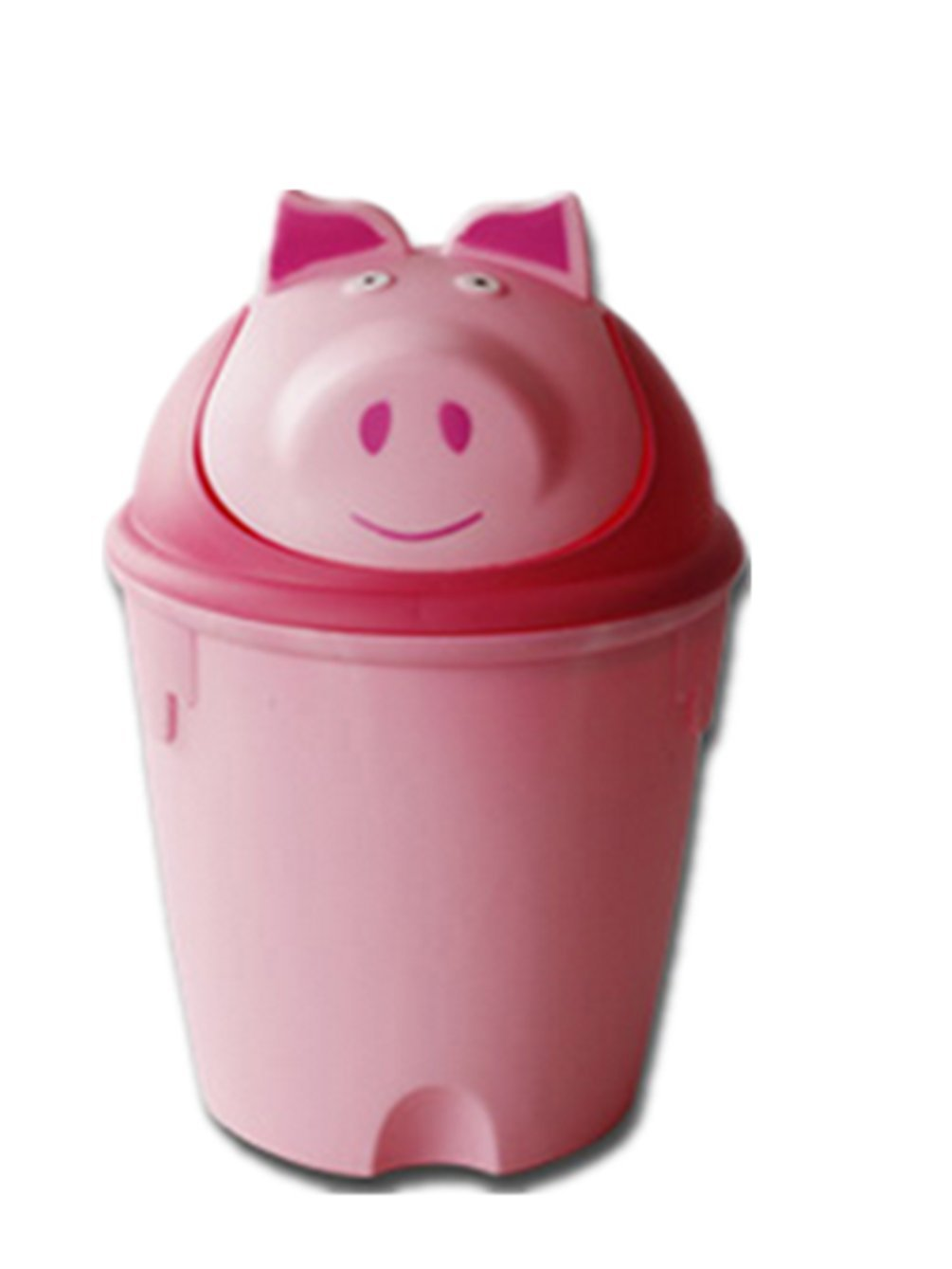 Amazon.com: Moolecole Creative Cute Pink Pig Plastic Trash Bin Waste Bin  Table Office Desk Mini Dustbin Trash Can: Home U0026 Kitchen