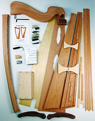 Voyageur Harp DIY Kit Woodworking Project for Professional Quality Harp by Musicmakers