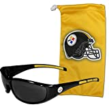 NFL Pittsburgh Steelers Adult Sunglass and Bag Set, Yellow