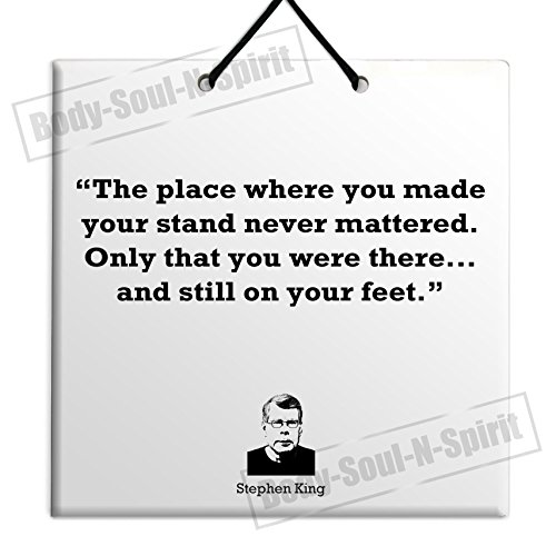 Stephen King - New Quote Ceramic Wall Hanging Art Sign Plaque TILE Home Gift