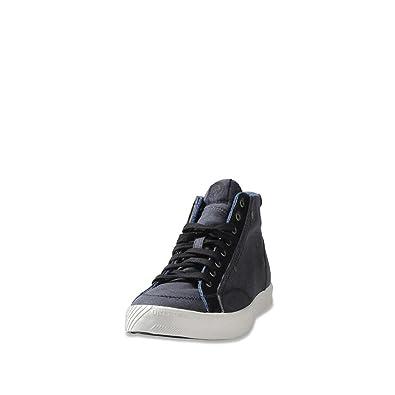 9ac3084d88df Amazon.com  Diesel Men s D-78 Mid India Ink Black Sneaker 10M  Shoes