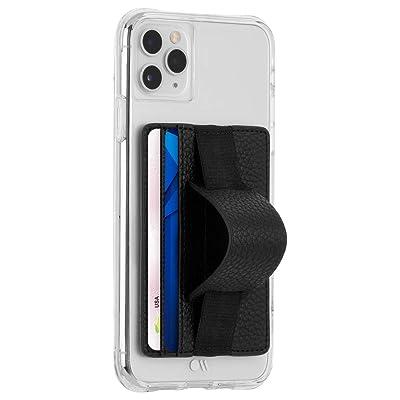 Case-Mate - Stick On Credit Card Wallet - Phone Holder - Loop Pockets - Ultra-Slim Card Holder - Finger Loop for Secure Hold - fit - Apple – iPhone – Samsung – Galaxy – Black