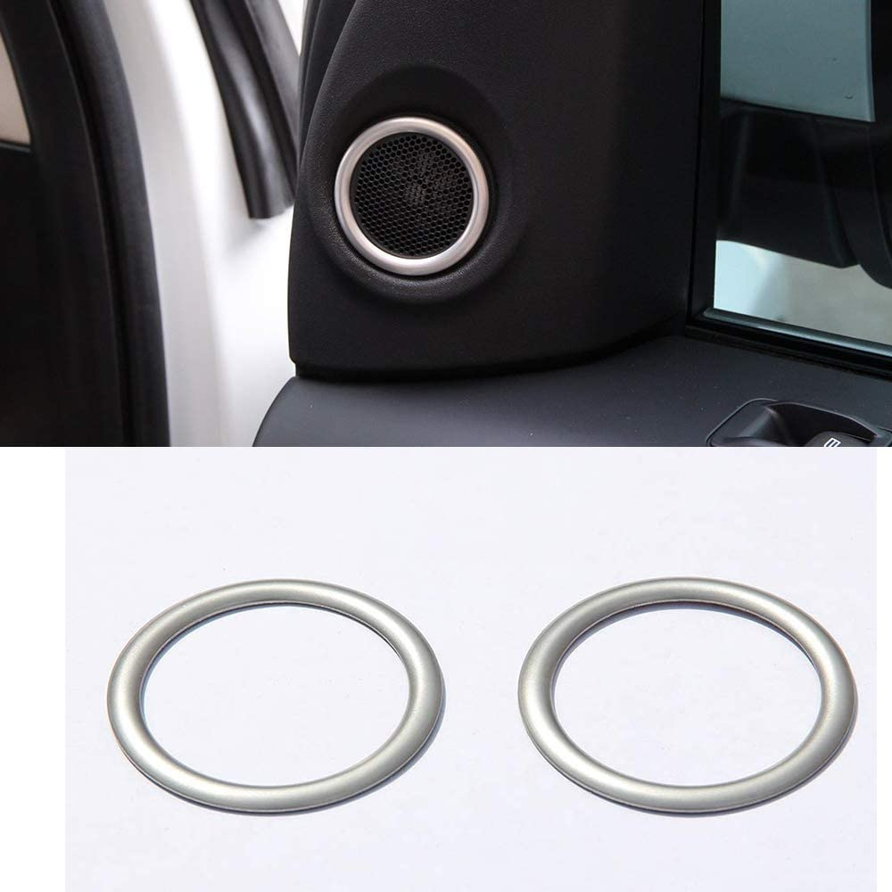 per Freelander 2 2007-2016 YIWANG Set di 2 anelli adesivi cromati per portiera auto