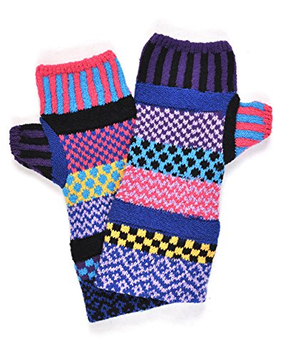 Solmate Socks - Mismatched Fingerless Mittens/Gloves for Women or for Men, Made in USA, Combo B