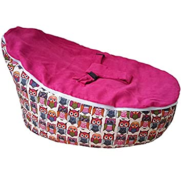 Marvelous Unfilled Baby Bean Bag Chair Mood To Hoot Owls Pink Adaptable Cozy Lightweight Portable Uwap Interior Chair Design Uwaporg