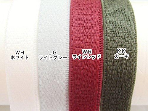 ゴムテープ10ミリ幅 サテン織カラータイプ (10ミリ巾 100メートルまき, カーキ) 10ミリ巾 100メートルまき カーキ B07B48D54P