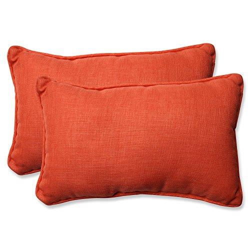 Pillow Perfect Outdoor/Indoor Rave Coral Rectangular Throw Pillow (Set of 2) (Perfect Pillow Accent)