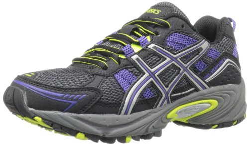 ASICS Womens Gel-Venture 4 Running ShoeBlackIrisLime7.5 M US