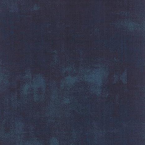 Per 1//4 Metre Moda Fabric Grunge Cobalt