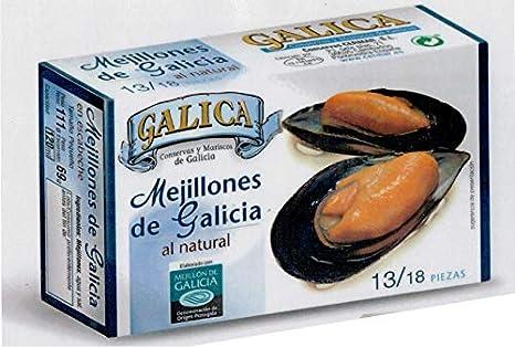 MEJILLONES DE GALICIA AL NATURAL 13/18 GALICA: Amazon.es: Alimentación y bebidas