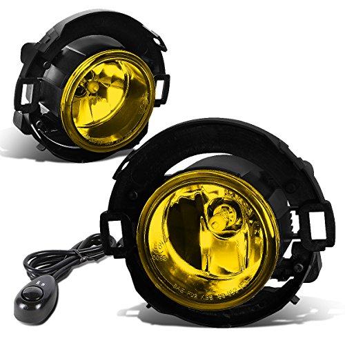 For 08-15 Xterra/Frontier Pair of Bumper Driving Fog Lights + Wiring Kit + Switch (Amber - Amber Kit Light Fog