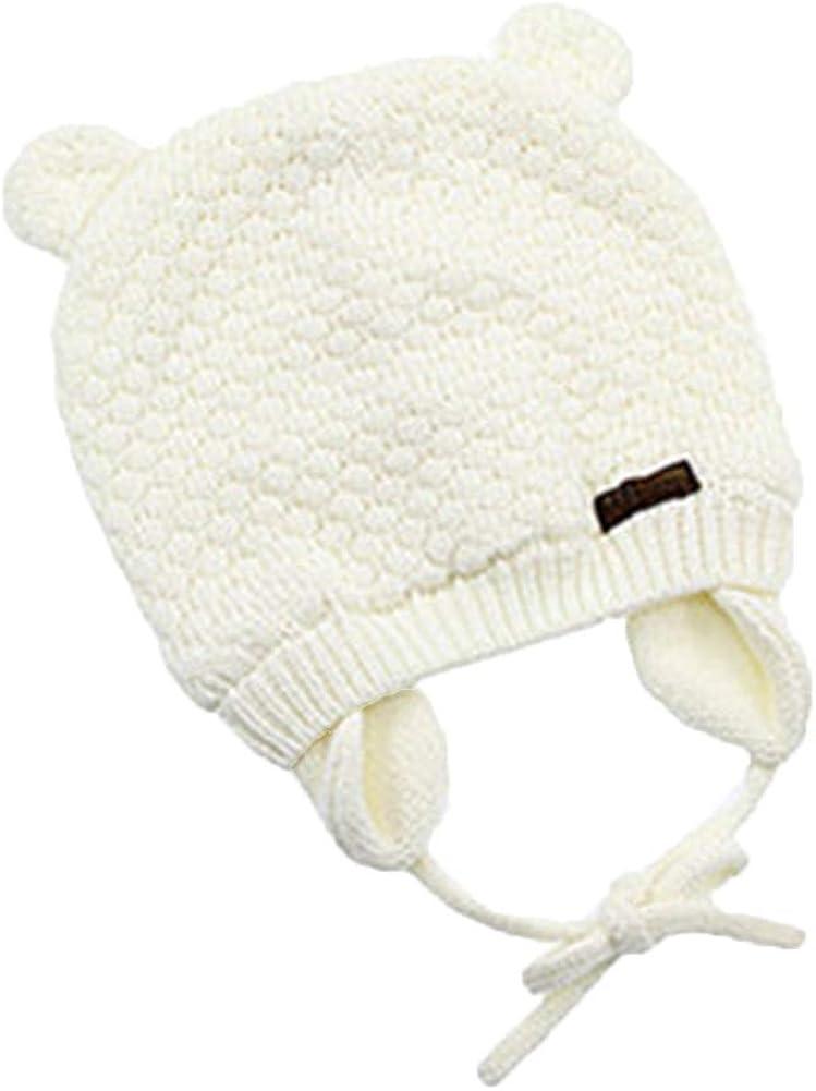 Wicemoon 1pcs Blanco Lindo Y Suave Gorro de Algodón de Invierno Cálido Sombrero para Niña Niño de Punto Sombreros: Amazon.es: Ropa y accesorios