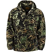 Trail Crest Mens Fleece Hunting Camouflage 1/4 Zip Hooded...