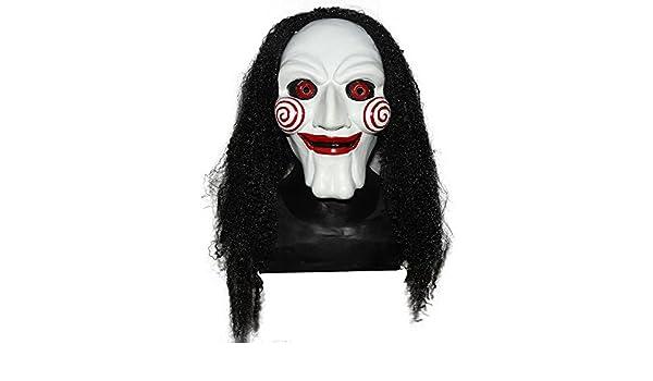 shoperama de Alta Calidad de látex Máscara Saw con reaparición látex Máscara Jigsaw Horror Halloween: Amazon.es: Juguetes y juegos