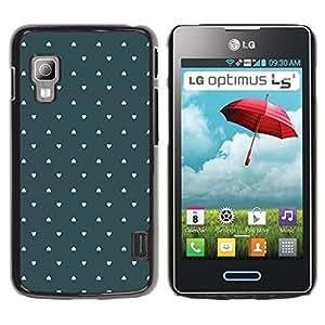 TopCaseStore / la caja del caucho duro de la cubierta de protección de la piel - Wallpaper Green Love Pastel - LG Optimus L5 II Dual E455 E460