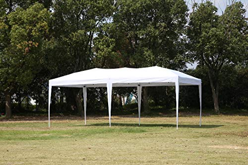 CDM product CharaVector 10 x 20 ft Heavy Duty Pop-up Tent Gazebo for Outdoor Party Wedding Commercial Activity Pavilion BBQ Beach Car Shelter (White) small thumbnail image