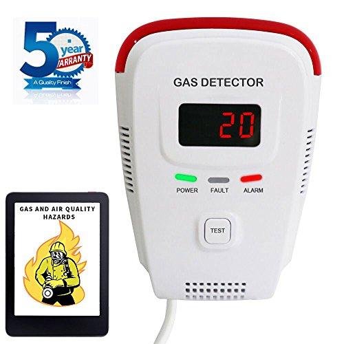 Natural Gas Detector/Propane / Methane,Leak Sensor Detector with Voice Warning and Digital Display