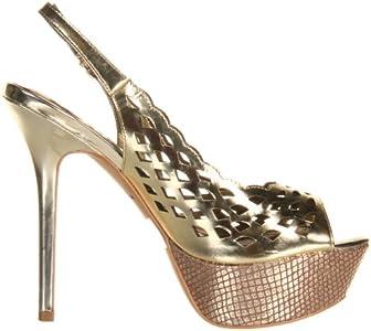 Sam Edelman Women's Myer Platform Pump,Gold Shine,6 M US