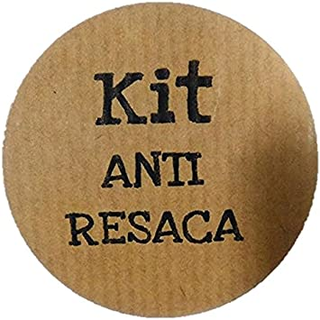 100 etiquetas adhesivas KIT ANTI RESACA