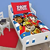 Paw Patrol Pawsome Junior/Toddler Duvet Cover Set + Waterproof Mattress Protector