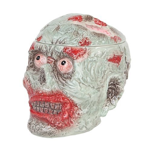Zombie Head Halloween Ceramic Cookie Jar by Pacific Giftware -