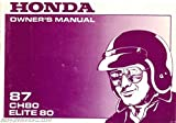 31GE1620 1987 Honda CH80 Elite 80 Scooter Owners Manual