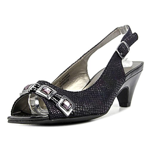 Klassische Frauen Black Pumps Slingback Toe Karen Scott Analese Peep 8RxYqngw5