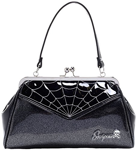 - Sourpuss Spiderweb Backseat Baby Purse Silver