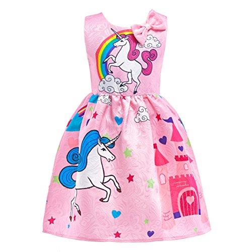 Dressy Daisy Girls My Little Pony Dress Costumes Rainbow Unicorn Costumes Fancy Dress up Size 6X Pink ()