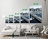 Oakland Bay Bridge San Francisco Art Print Wall Decor Image Colors - Unframed Poster 36 x 54 - XL
