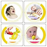 Baby Weaning Tool Baby Feeding Fresh Safe Food Feeder Nibbler Safety (3 pcs color)