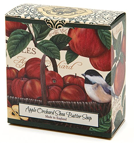 (Apple Orchard, Luxury Round, Beautifully Scented Shea Butter Soap Bar, Made in England, Triple Milled. Environmentally Friendly (Green). 3.5oz. )