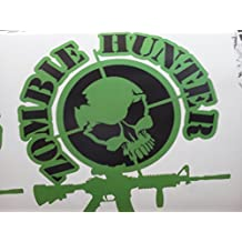 Zombie Hunter Ar-15 Decal ( Measures 14'' X 14'') Corn Hole Size or Back Window