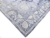 ''Rang Mahal'' Hand Embroidered Beaded Bullion Purl Velvet Christmas Tree Skirt Steel Grey Blue White Gold