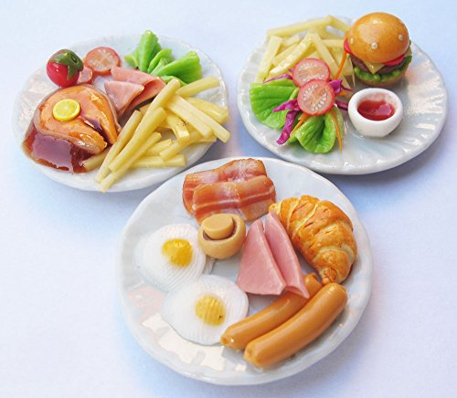 Mixed 3 Assorted Dollhouse Miniature Food, Dollhouse Collectibles from Unknown