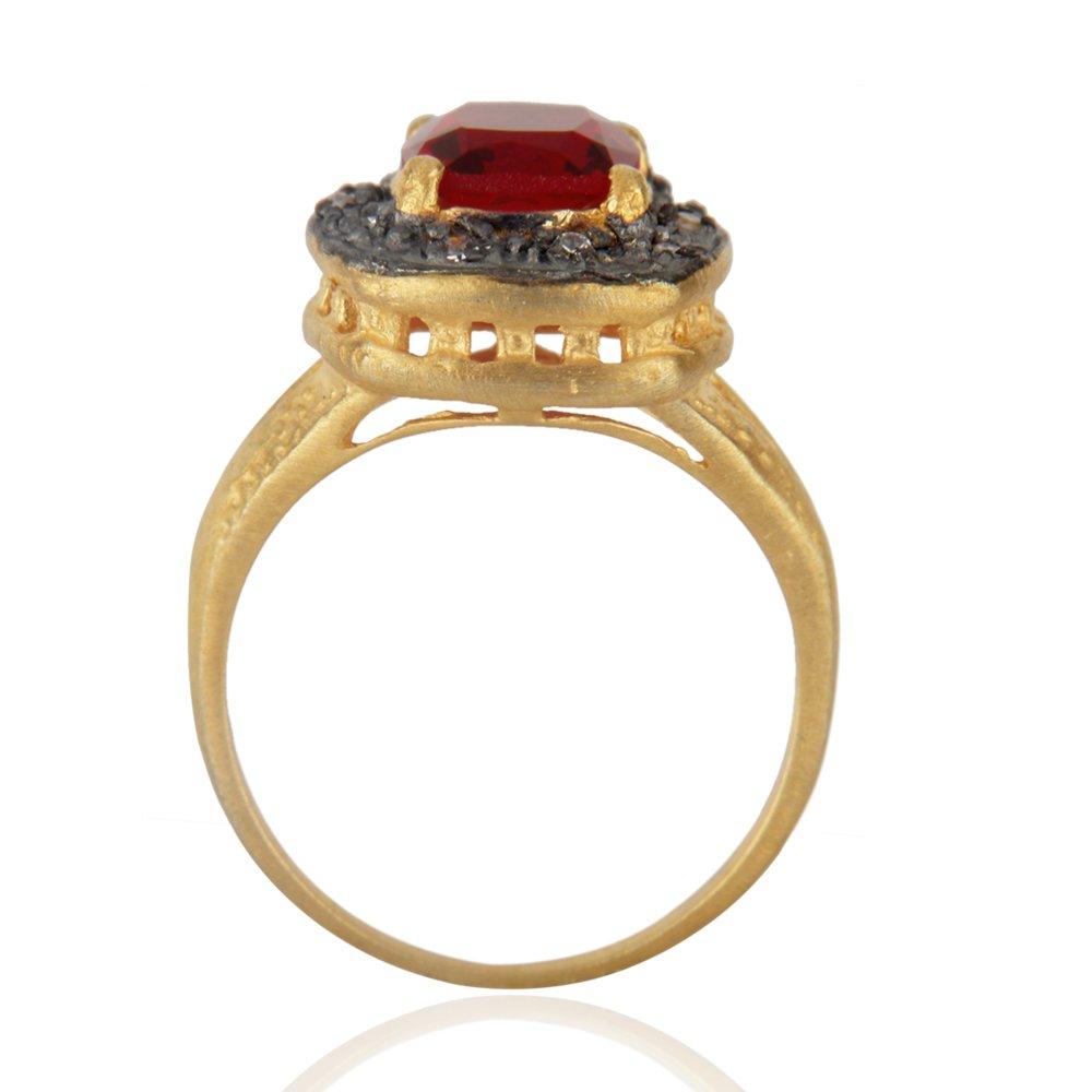 Gold Plated Gemstone Fashion Engagement Ring